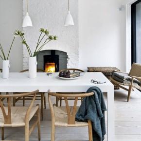 Minimalistisch Victoriaans huis gedrenkt in een Scandinavische saus