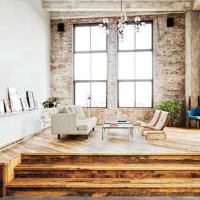 Industriële loft in New York, Brooklyn