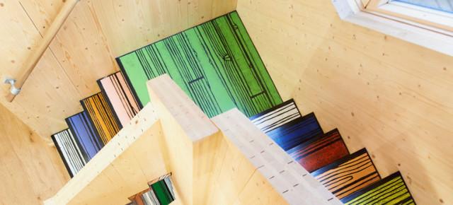 WoodBlock House voor Richard Woods, door dRMM Architects